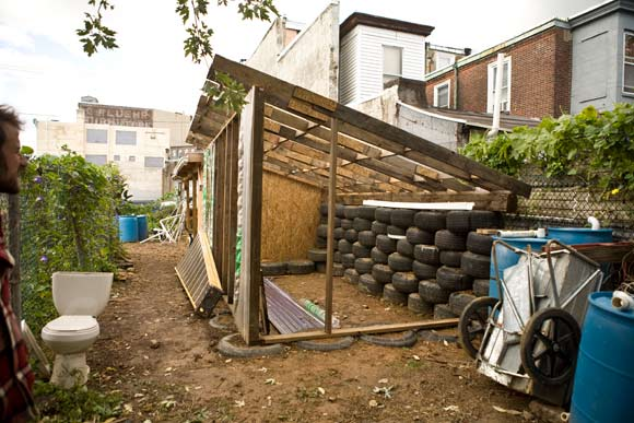 The beginnings of the first Urban Earthship - Kensington