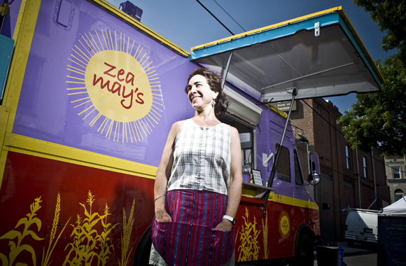 Sue Wasserkrug, owner of Zea May's food truck