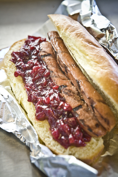 Bison Hot Dog w/ cranberry Relish