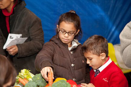 Children are among those benefiting from Farm to Families' holistic approach