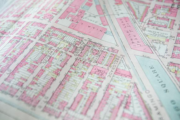 Old map of the Fishtown neighborhood