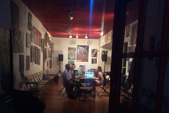 Meet A Poet Art Gallery, On the Ground�s host in Parkside