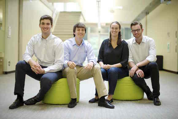 Aaron Goldstein, William Duckworth, Becca Goldstein and Collin Hill of Fever Smart