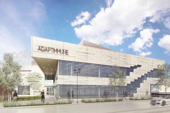 A rendering of Adaptimmune's new headquarters at the Navy Yard