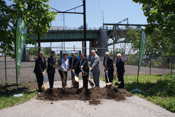 Groundbreaking at the K&T Trail