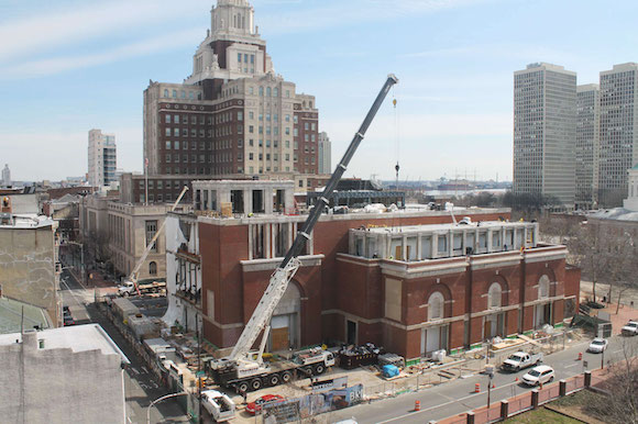 Construction on the Museum of the American Revolution
