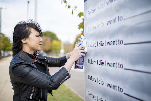 Artist Candy Change asks 'Before I die I want to...'