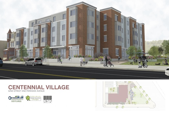 A rendering of Centennial Village