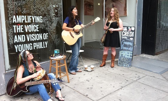 Busking at CRED