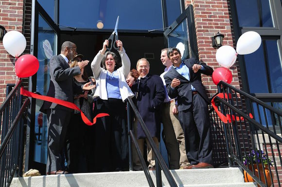 Cutting the ribbon at High Point Wholesale