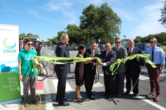 The Camden Greenway and Circuit trail project was unveiled on Sept. 24