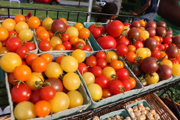 Tomatoes at the farm market