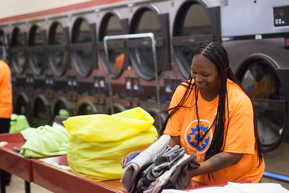 Wash Cycle Laundry puts local people to work