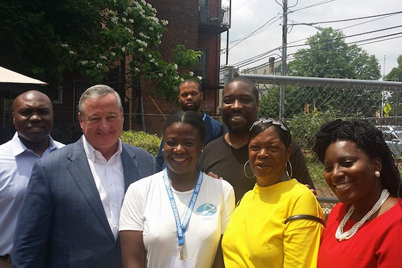 Mayor Kenney, Kenyatta Johnson and CDC leaders