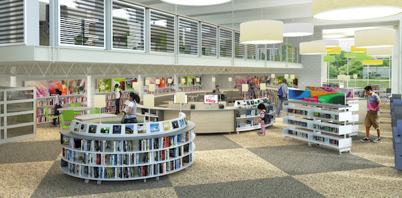 Lovett Memorial's Library's updated interior