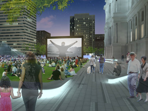 Movie night in renovated Dilworth Park