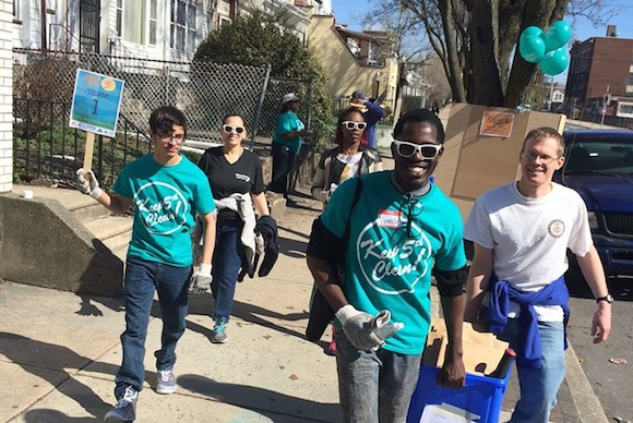 Community clean-up on N. 5th Street