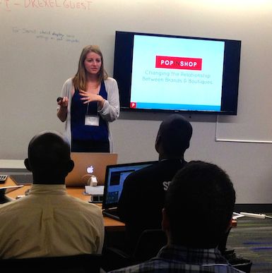 Philly-based PopInShop co-founder Allison Berliner makes her pitch