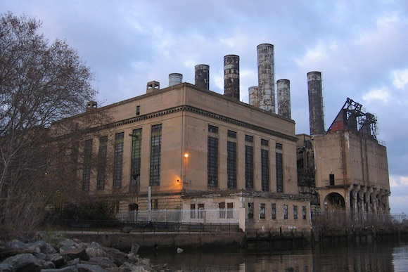 A power station on the Delaware