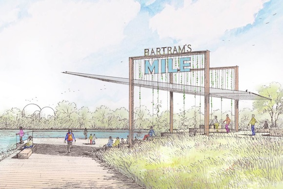 A rendering of Bartram's Mile