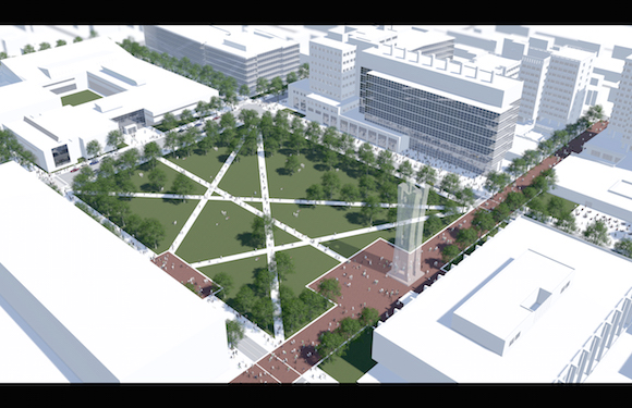 Rendering of Temple's expanded quad