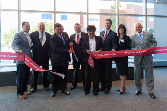 Ribbon-cutting at 3737 Science Center