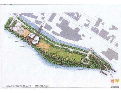 A rendering of Venice Island