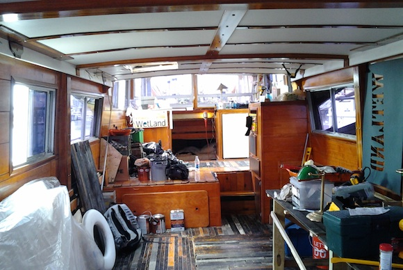 The floating gallery/galley