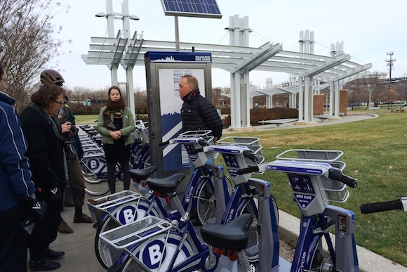 A sample bike share station