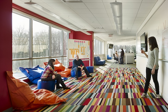 Flexible meeting spaces at AWeber