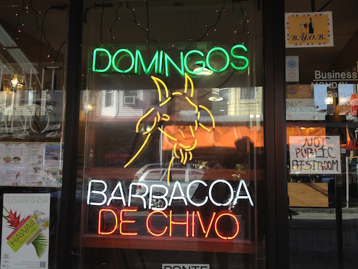 Barbacoa on offer in the Italian Market, a sign of the changing face of South Philly