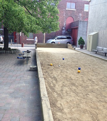 The bocce court in Bardascino Park in Philly's Bella Vista neighborhood