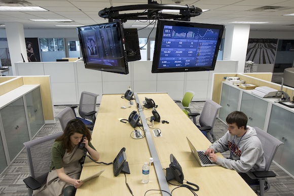 Flexible workspace at PennLive
