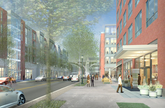 A rendering of Waterfront Drive